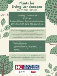 Plants for Living Landscapes: Trees & Shrubs